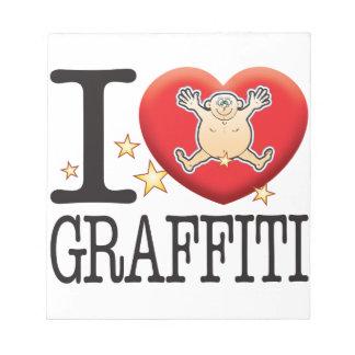 Graffiti Love Man Notepad