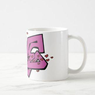 Graffiti love tag basic white mug