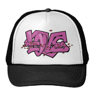 Graffiti love tag cap