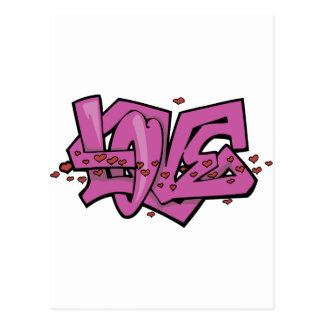 Graffiti love tag postcard