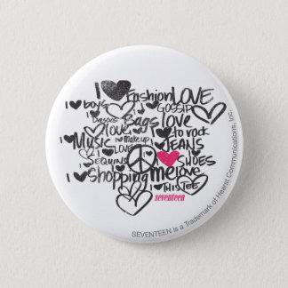 Graffiti Magenta 6 Cm Round Badge