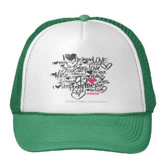 Graffiti Magenta Hats