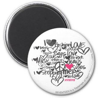Graffiti Magenta 6 Cm Round Magnet
