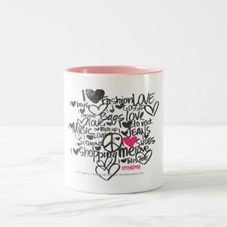 Graffiti Magenta Two-Tone Coffee Mug
