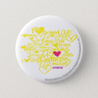 Graffiti Magenta/Yellow 6 Cm Round Badge