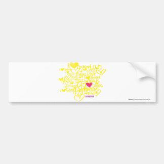 Graffiti Magenta/Yellow Bumper Sticker