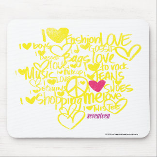 Graffiti Magenta/Yellow Mouse Mat