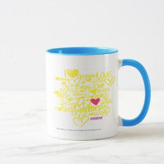 Graffiti Magenta/Yellow Mug