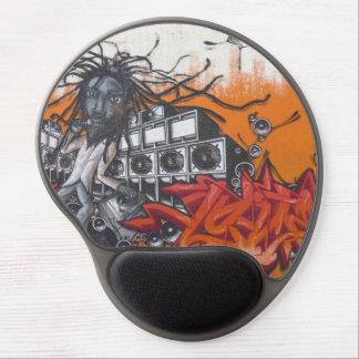 graffiti music gel mouse mat