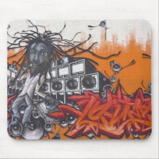 Graffiti music mouse mat