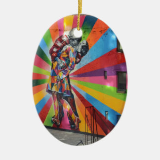 Graffiti of New York Christmas Ornament