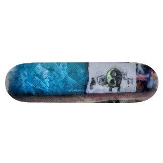 Graffiti on the wall skateboard