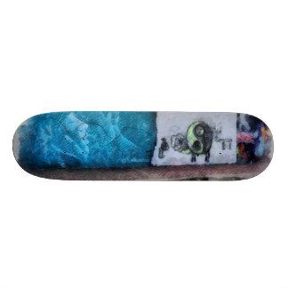 Graffiti on the wall skate boards