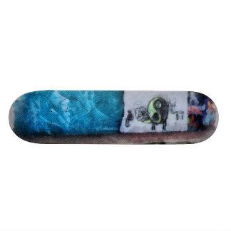 Graffiti on the wall skate board deck