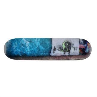 Graffiti on the wall skate board decks