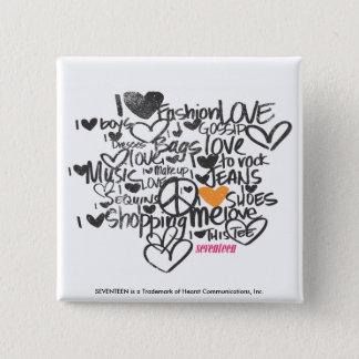 Graffiti Orange 15 Cm Square Badge