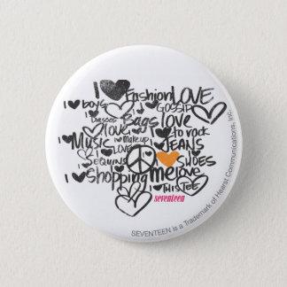 Graffiti Orange 6 Cm Round Badge