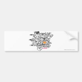 Graffiti Orange Bumper Sticker