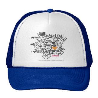 Graffiti Orange Trucker Hat