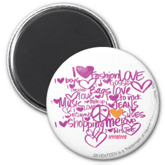 Graffiti Orange/Purple 6 Cm Round Magnet
