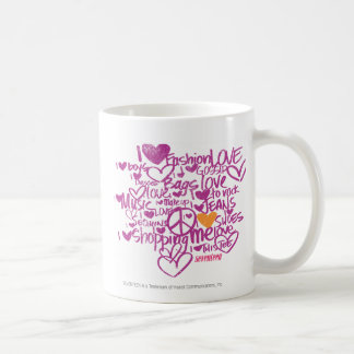 Graffiti Orange/Purple Coffee Mug