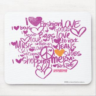 Graffiti Orange/Purple Mouse Mat