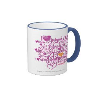 Graffiti Orange/Purple Ringer Mug
