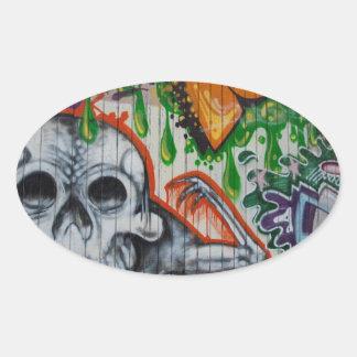 Graffiti Oval Sticker