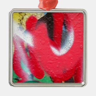 graffiti paint layers christmas ornament