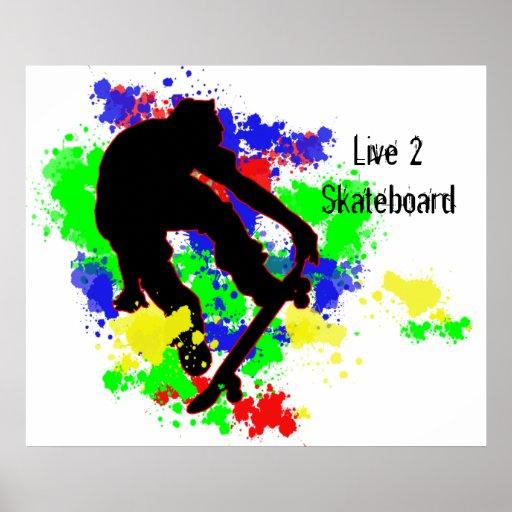 Graffiti Paint Splotches Skater