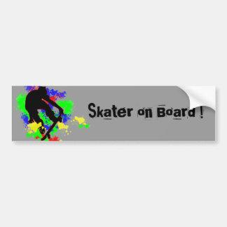 Graffiti Paint Splotches Skater Bumper Sticker