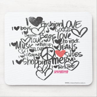 Graffiti Pink Mouse Pad