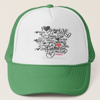 Graffiti Pink Trucker Hat