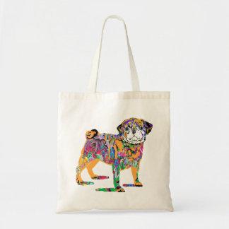 Graffiti pug dog tote