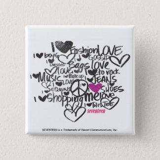 Graffiti Purple 15 Cm Square Badge