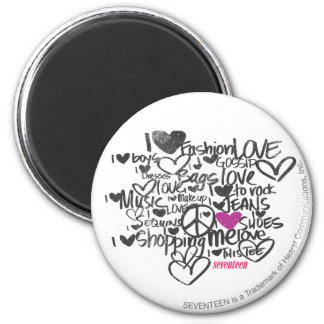 Graffiti Purple 6 Cm Round Magnet