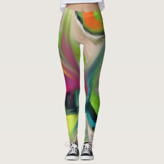 Graffiti Rainbow on metal Leggings