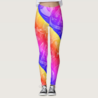 Graffiti Rainbow Space Girl Leggings