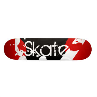 Graffiti Red Black White Monogram Skateboard
