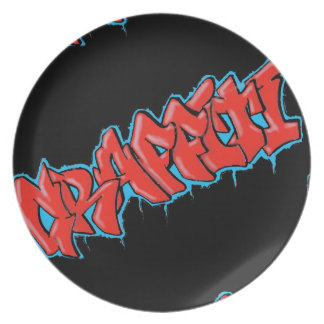 GRAFFITI red/bue plate