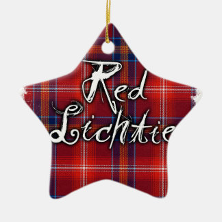 Graffiti Red Lichtie collection Ceramic Star Decoration