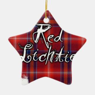 Graffiti Red Lichtie collection Ceramic Star Decoration