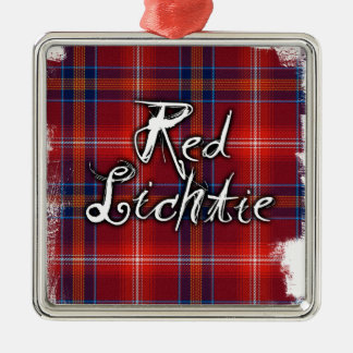 Graffiti Red Lichtie collection Silver-Colored Square Decoration