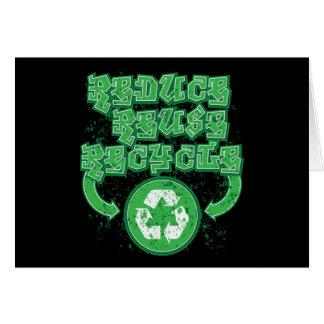 Graffiti Reduce Reuse Recycle Greeting Card