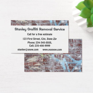 Graffiti Removal Service Custom Business Business Card