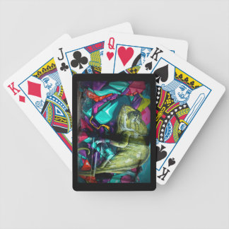 Graffiti reptile bicycle playing cards