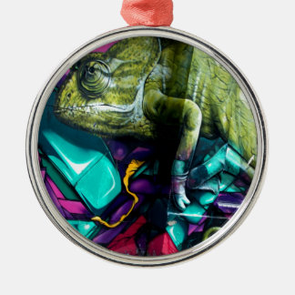 Graffiti reptile christmas ornament