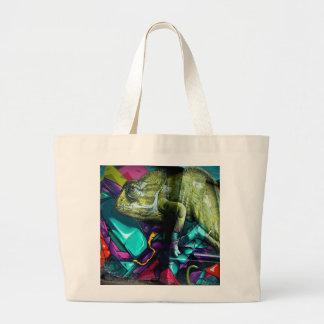 Graffiti reptile large tote bag