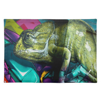 Graffiti reptile placemat