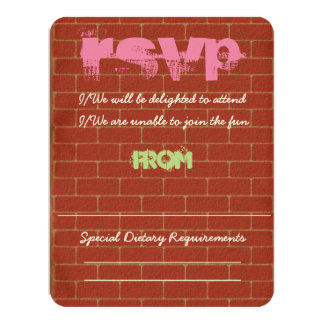 Graffiti RSVP Card